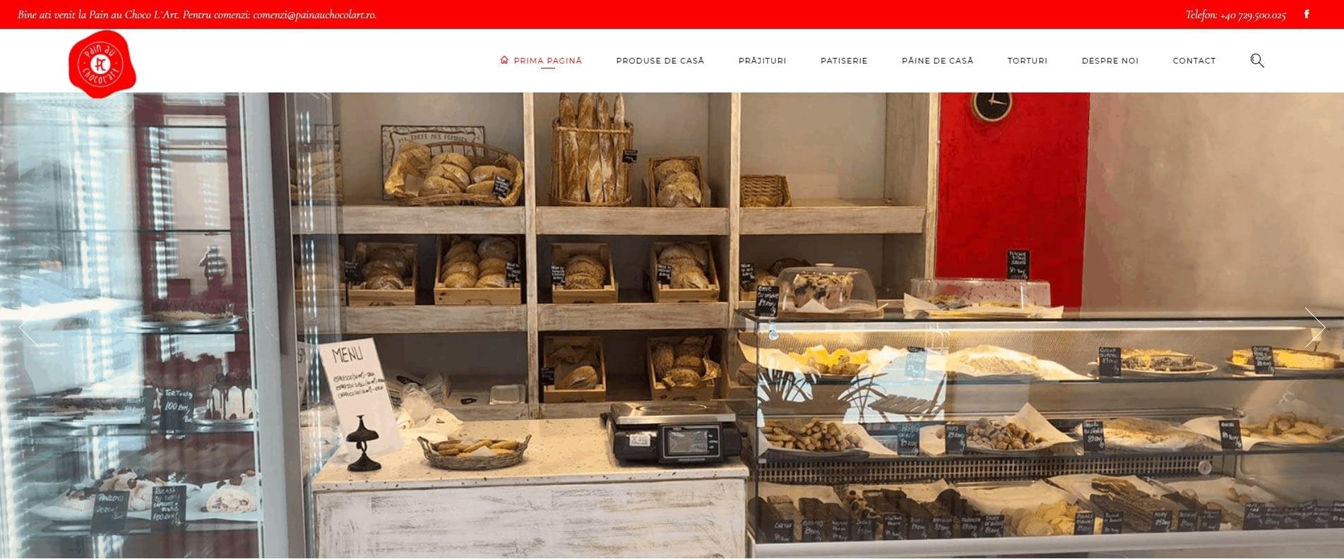 Site de prezentare food